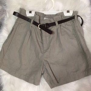 American Rag Paper-bag Waist Khaki Shorts